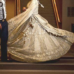 Custom Indian Wedding Reception Lehenga